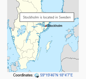Also known as: Stockholm, Sweden.