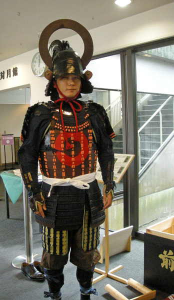 No god pictures for the battle, so here's a random re-enactor in Muneshige's armor.