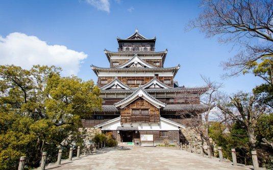 Nagaakira ruled his eventual domain from here - Hiroshima Castle.